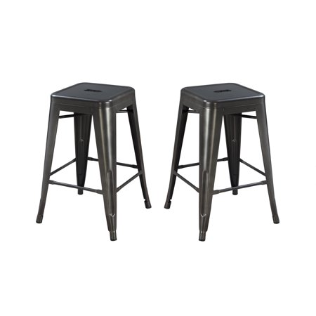 Emerald Home Dakota Ii Gunmetal Gray 24 Inch Bar Stool With All