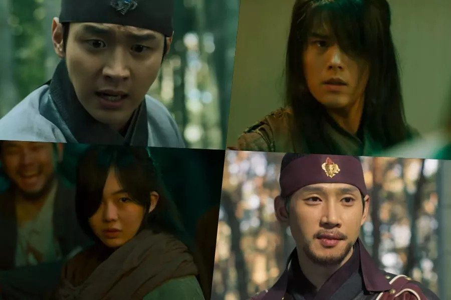 """Watch: Jang Dong Yoon Joins Hands With Kim Dong Jun And Geum Sae Rok To Ward Off Evil In """"Joseon Exorcist"""""""