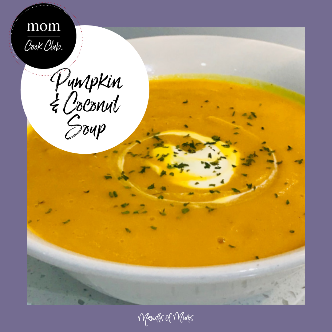 Would you serve up soup for dinner?  Would your family feel as though it's a proper dinner? Jam packed with fresh ingredients and so good for you, this Member Recipe for Creamy Coconut Pumpkin Soup is the bomb.  Add some crusty fresh bread and a salad or some steamed green veges and that is dinner sorted! RECIPE in MoM Cook Club. . . #momcookclub #mouthsofmums #nomnom #easyrecipe #delish #homemade #closetohome #sogood #soup #souprecipe #pumpkinsoup