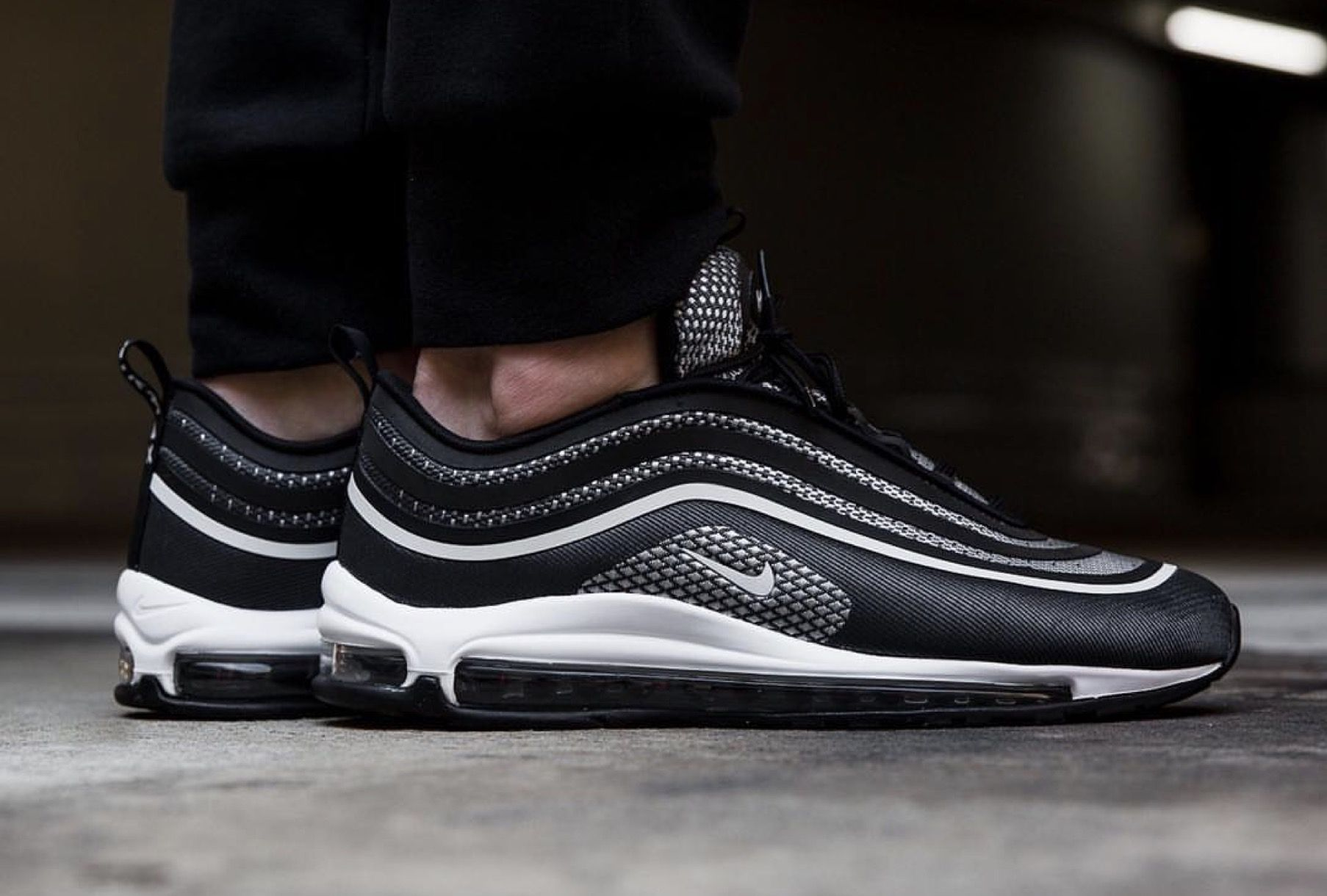 Release Date August 17 2017 Nike Air Max 97 Ultra 17 Black Anthracite Credit Overkill Sneakers Nike Air Max Nike Air Max 97 Nike Air Max