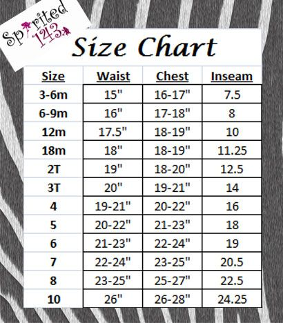 Kid Clothing Size Chart  Sewing For Kids    Chart