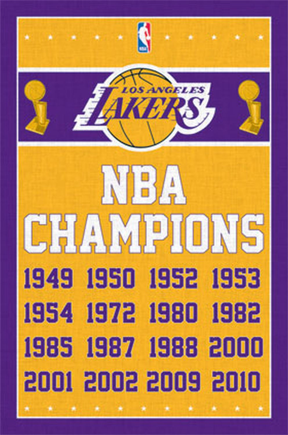 Los Angeles Lakers Nba Champions Poster 22 X 34 Basketball Logo 6725 Los Angeles Lakers Nba Champions Nba Los Angeles