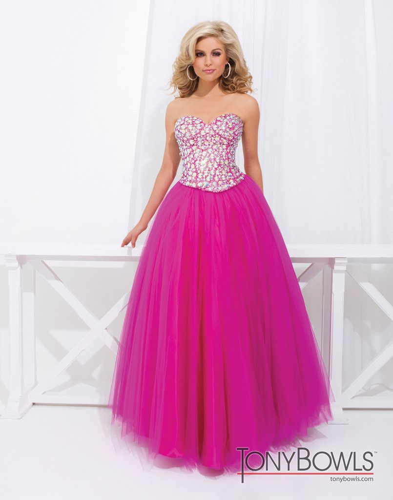 Twopiece gown with jeweled top with sweetheart neckline and boning