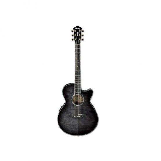 Ibanez Aeg24ii Tgb Acoustic Electric Guitar Rosewood Neck Transparent Grey Burst 519 Acoustic Electric Guitar Acoustic Electric Guitar