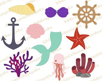 Under the sea svg Mermaid svg Ocean svg Seashell svg