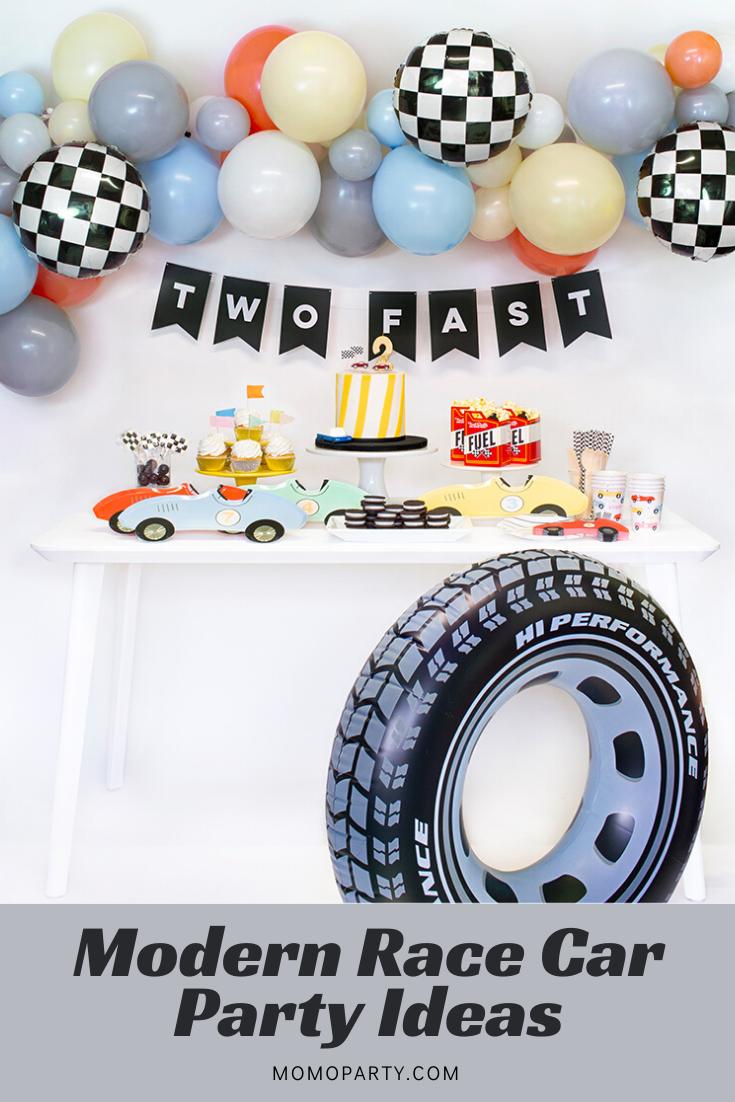 Modern Race Car Party Ideas