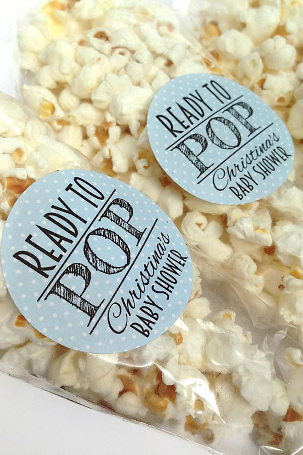 Popcorn Baby Shower Favors Ready To Pop Baby Shower Favors Boy