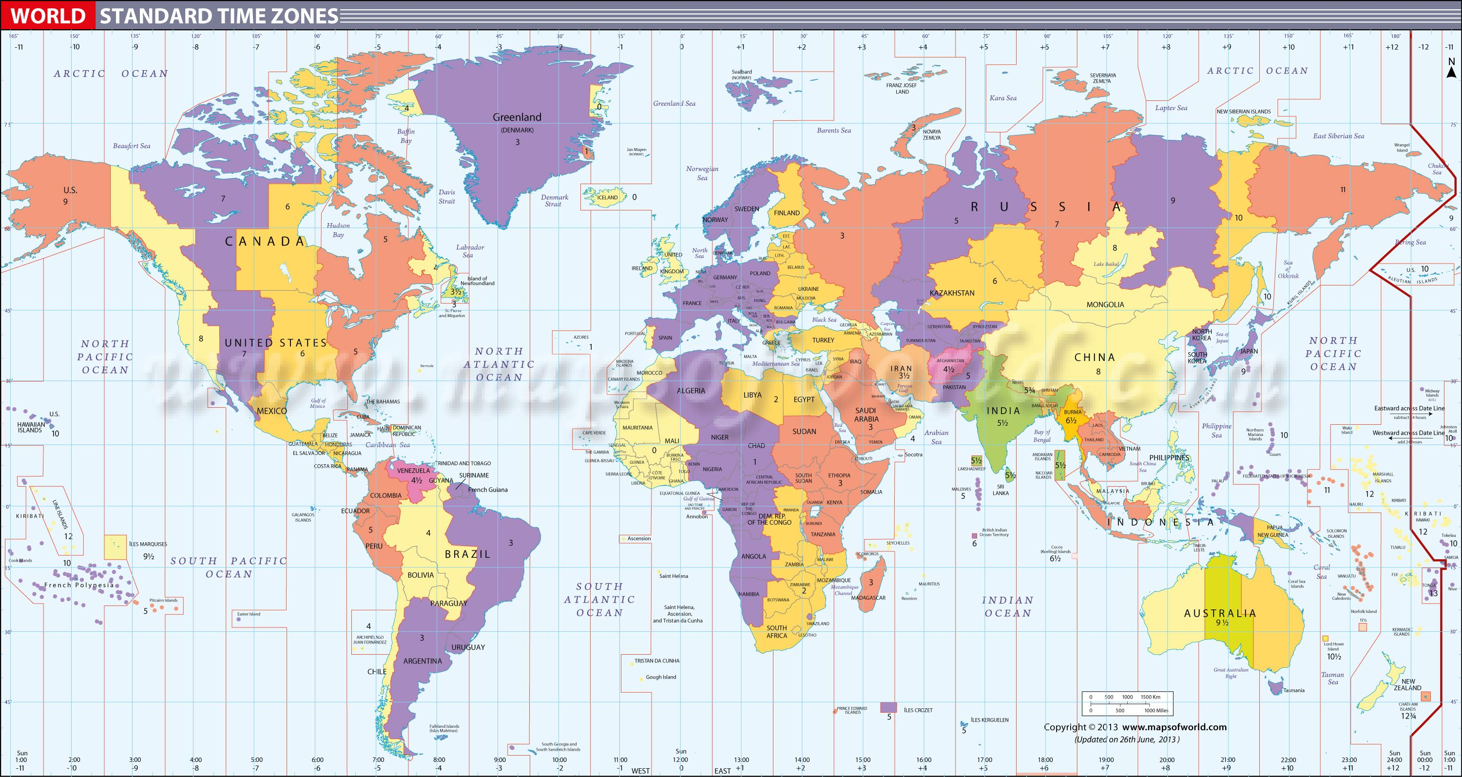 map in large print of the world inpinks | Free Printable World