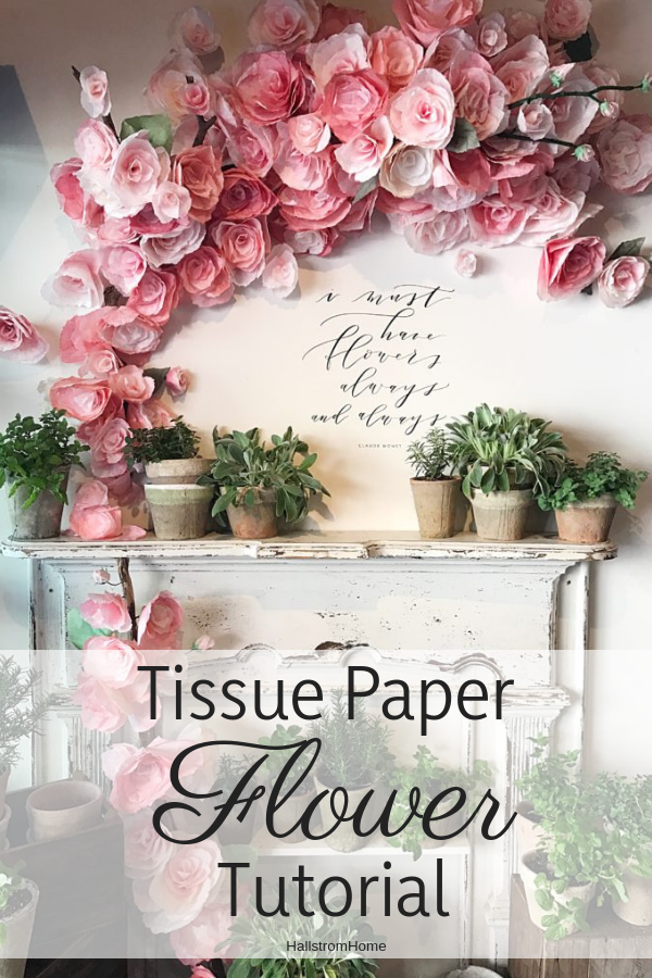 DIY Tissue Paper Flowers Tutorial #paperflowertutorial