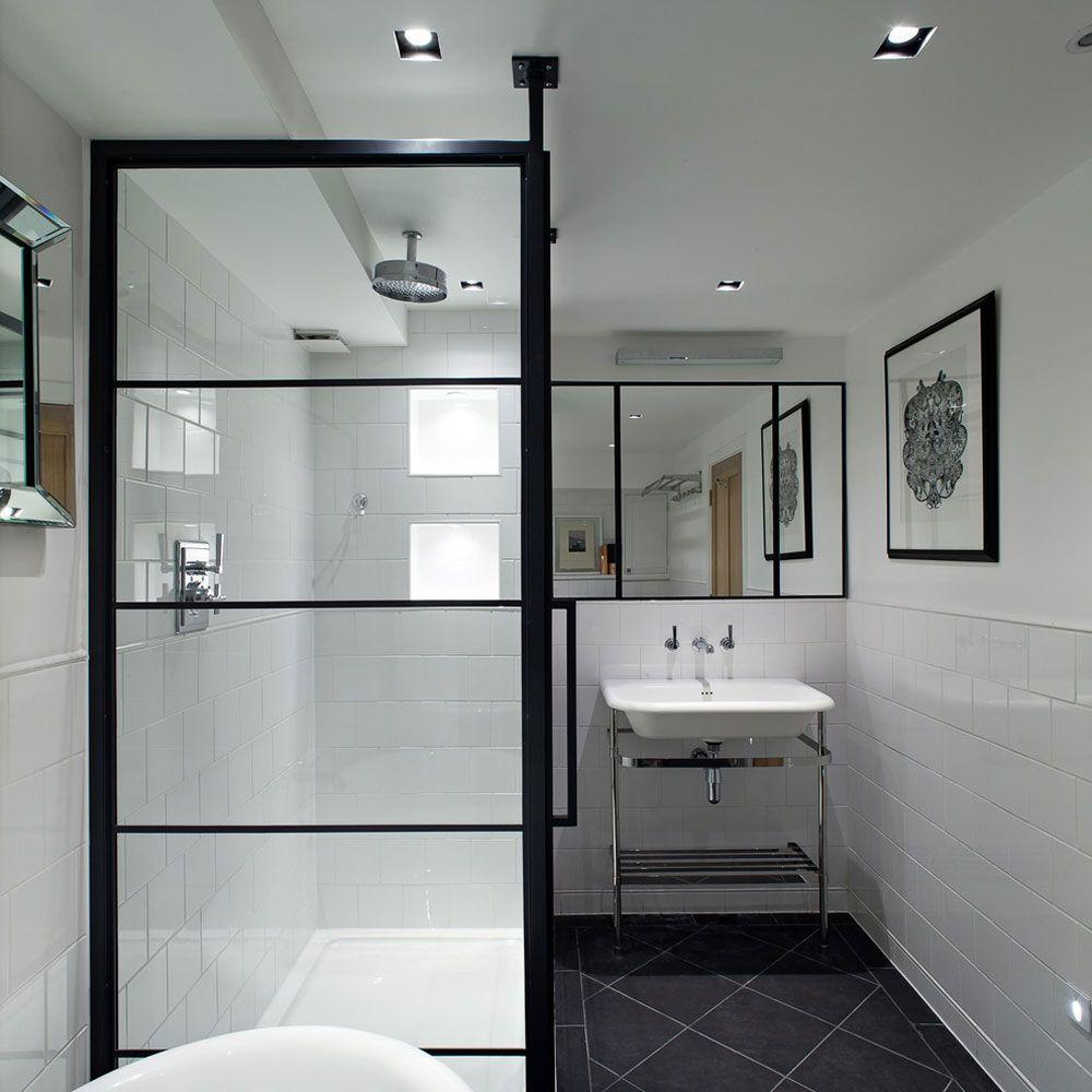Badezimmer Spiegel Mit Schwarzem Rahmen