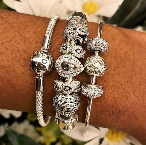 21b1d7acf Bling Pandora bracelet | pandora | Pandora bangle, Pandora jewelry ...