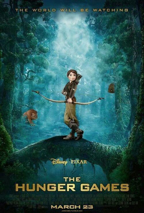 Los Juegos Del Hambre En Peli Disney Hunger Games Poster Hunger Games Memes Hunger Games
