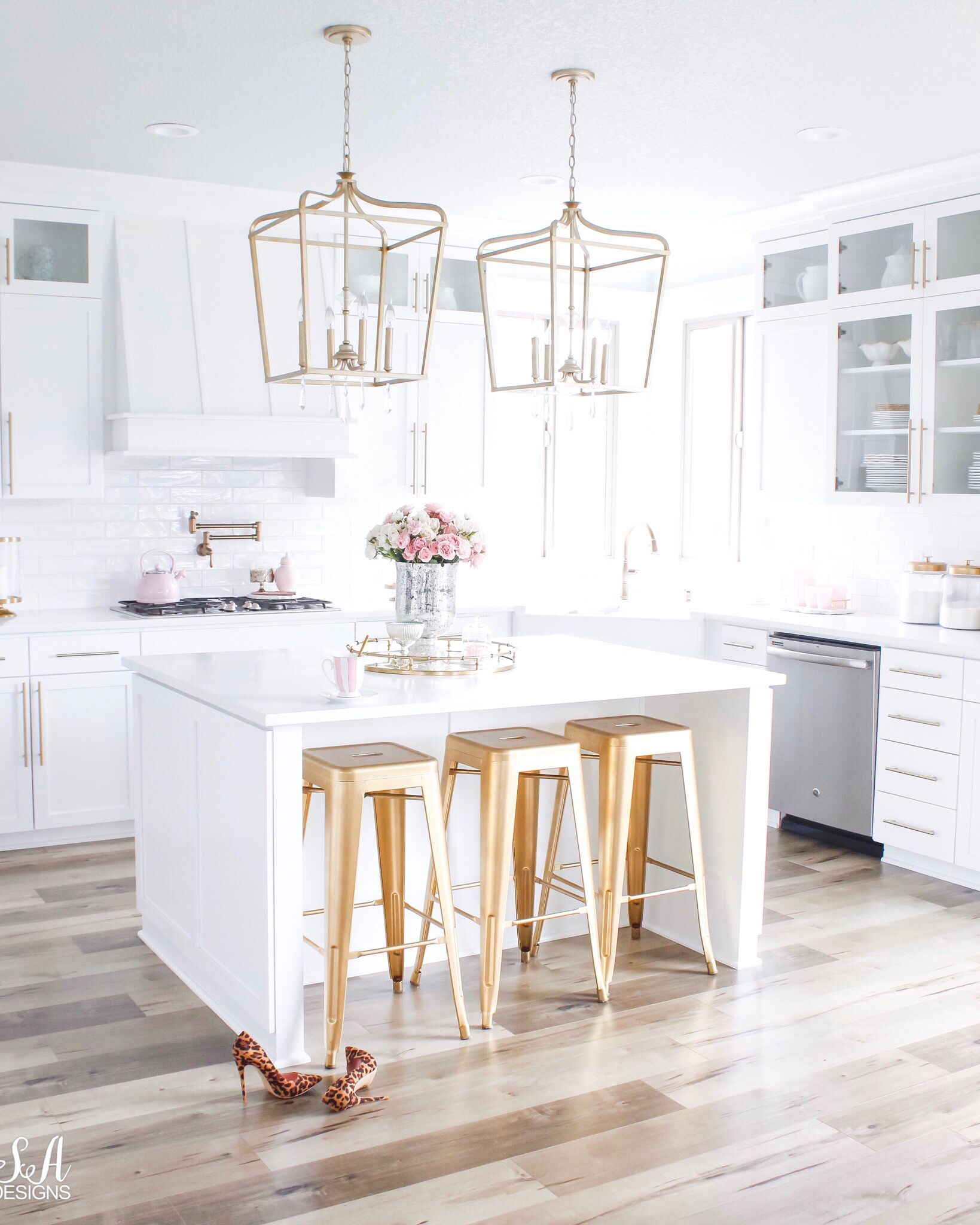 Kitchen White Kitchen Design White Room Decor Gold Kitchen