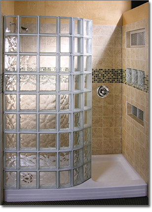 Glass Block Showers Doorless Glass Block Shower Glass Block