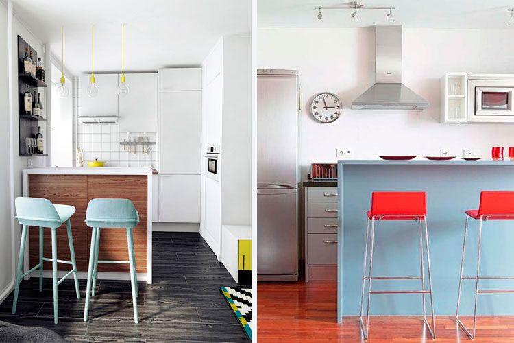 Cocinas peque as con barra americana decofilia cocinas pinterest cocinas peque as con - Cocinas pequenas con barra americana ...