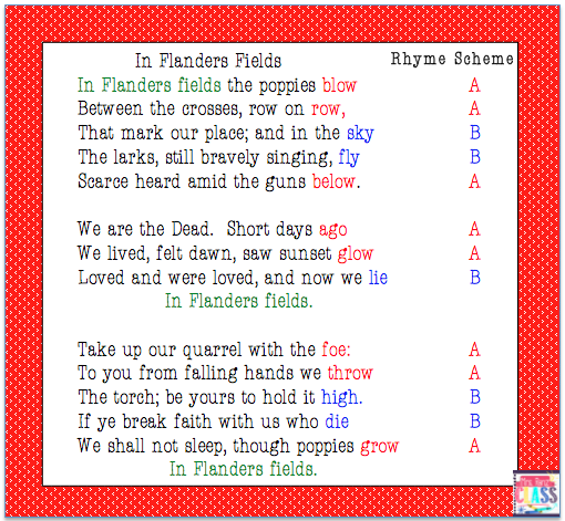In Flanders Fields A Poem For Veterans Day Veterans Day Flanders Fields Poem Flanders Field