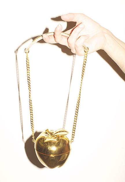 Gold Apple Bag (by Maryam Nassir Zadeh)