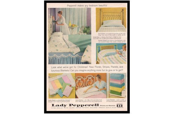 Lady Pepperell Print Ad Home Decor by APlugFromThePast on Etsy
