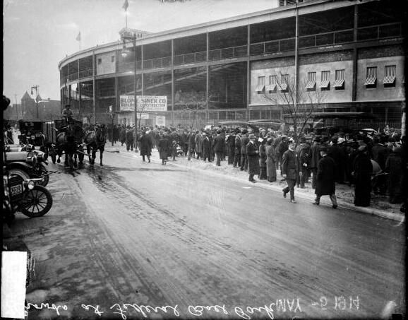 Wrigley Field Chicago (started as Weeghman Park--shown here May 1914)