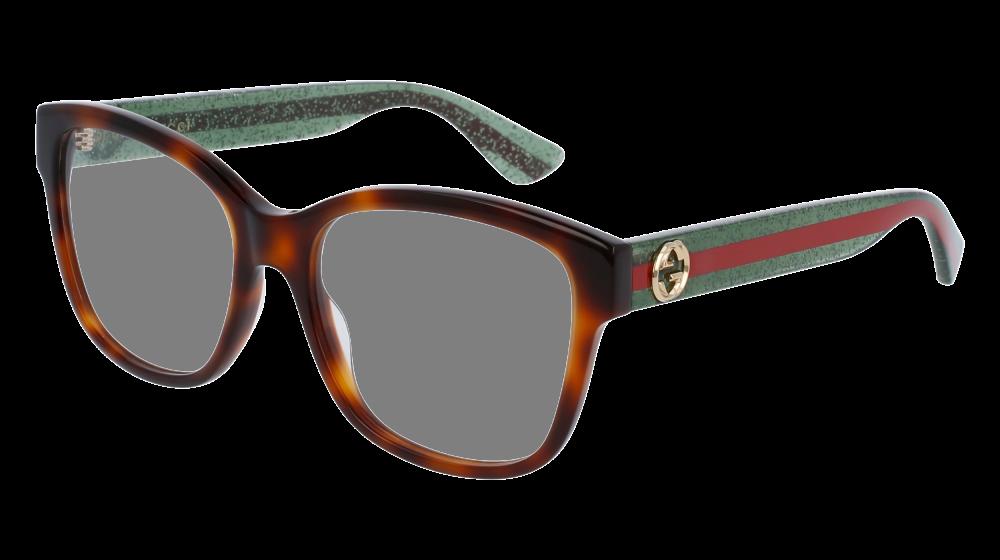 958b2056eb0 Gucci - GG0038O-002 Havana Green Eyeglasses   Demo Lenses in 2019 ...