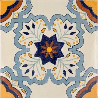 12x12 Augusta Terra Nova Hand Painted Floor Tile Azulejos Figuritas Magico