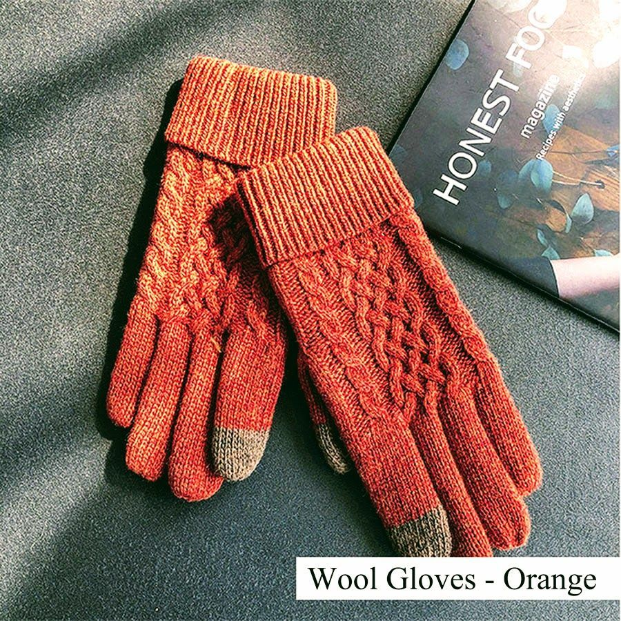 4269cdef5 Woman Winter Wool Knit Gloves Ladies Cold Weather Warm Finger Outdoor  Driving Gloves Gifts #fashion