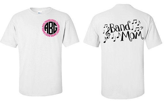 3d1ab6e1e809e Monogram Band Mom Shirt by VinylDezignz on Etsy   Pinterest Mini ...