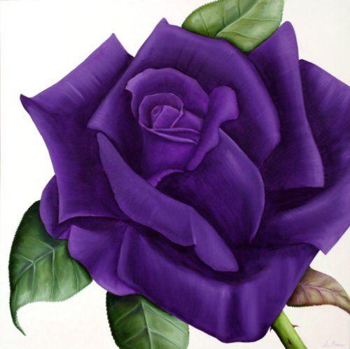Dark Purple Rose Tattoos