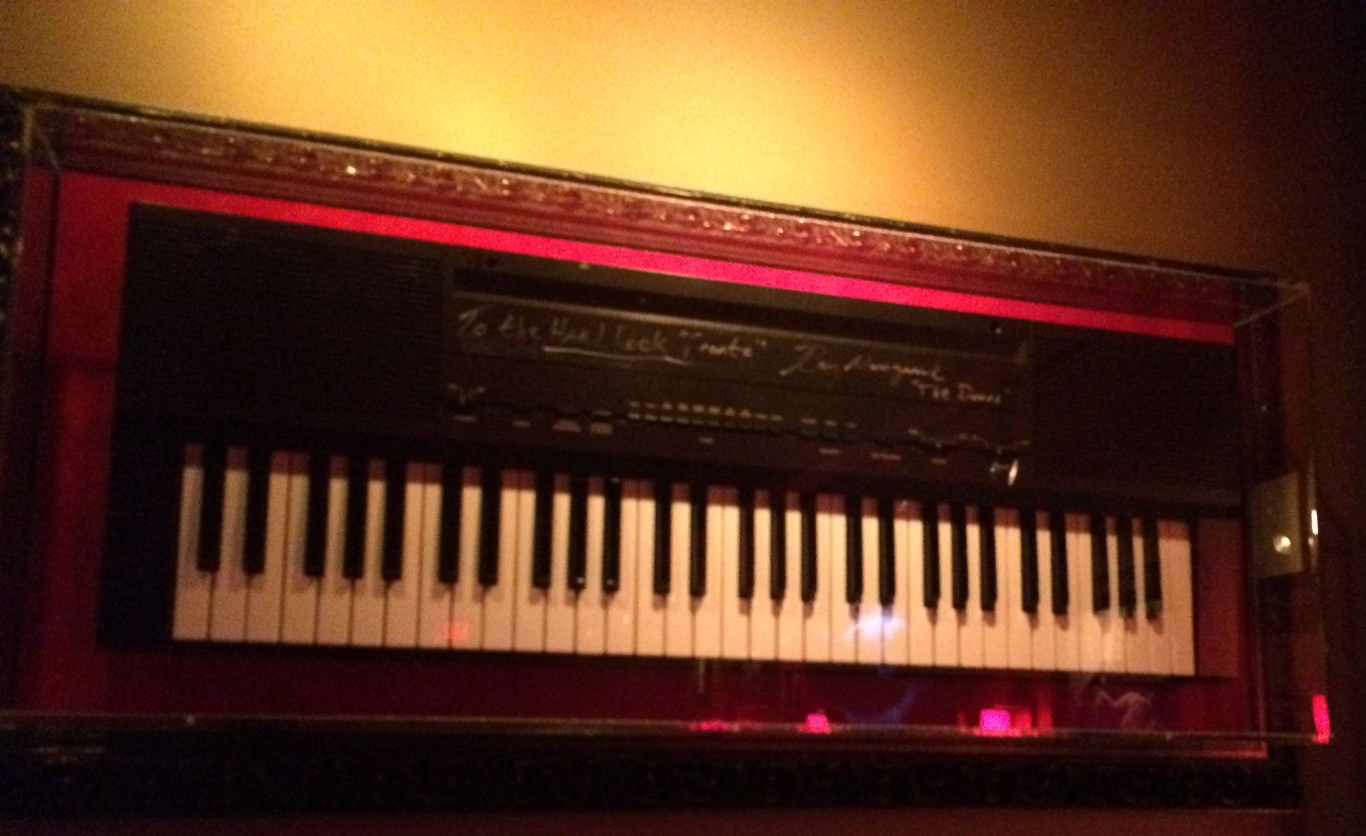 The Doors virtuoso keyboardist Ray Manzarek signed this keyboard at Hard Rock Cafe Toronto. & The Doors virtuoso keyboardist Ray Manzarek signed this keyboard at ...