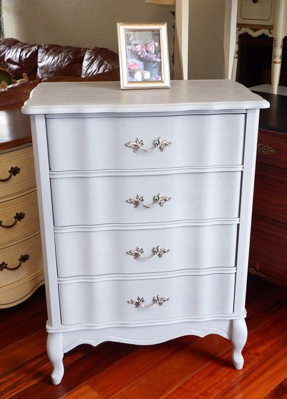 Best Custom Painted Vintage French Provincial Tall 4 Drawer 400 x 300
