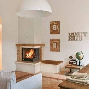 Corner Fireplace Design Ideas In Home Design and Decor Category | Fireplaces | Pinterest | Fireplace design