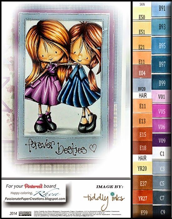 Passionate Paper Creations: Wryn and Emmy - BFF - Tiddly Inks