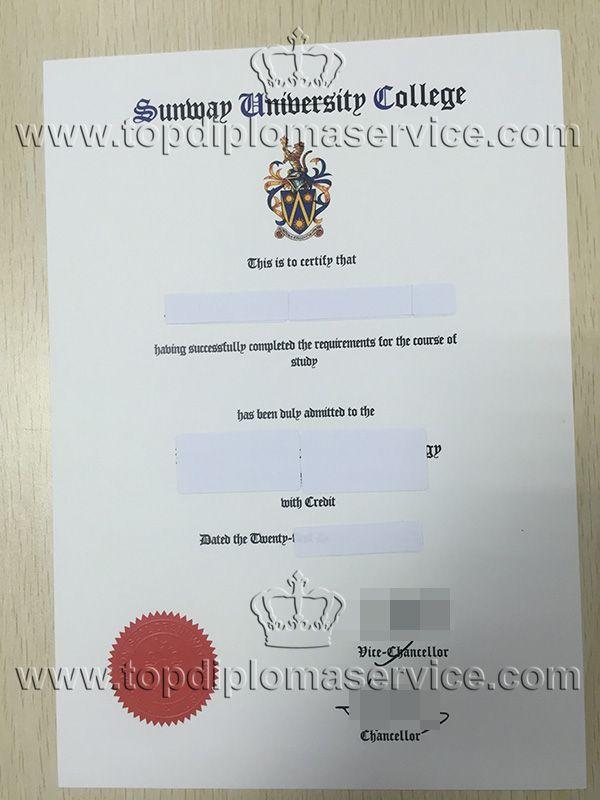 buy Sunway University college degree cert, make fake diploma. http ...
