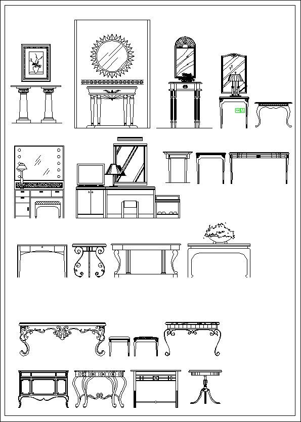 Furniture elevation ,Sofa elevation,Chair elevation