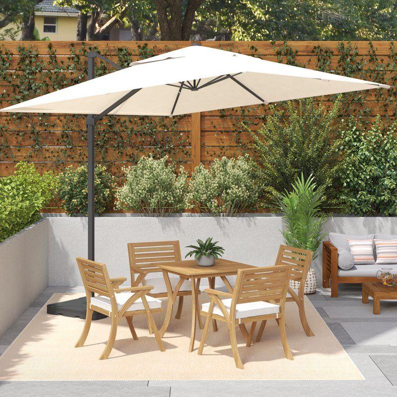 10' Square Cantilever Umbrella & Reviews AllModern