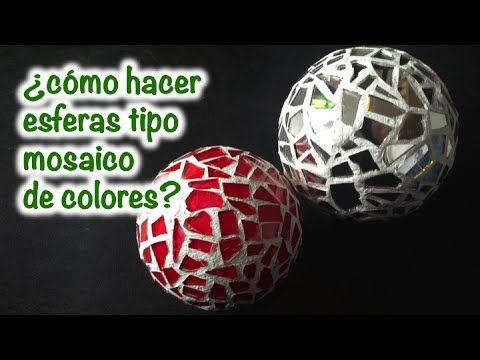 Como hacer esferas tipo mosaico de colores ideas para - Mosaicos de colores ...