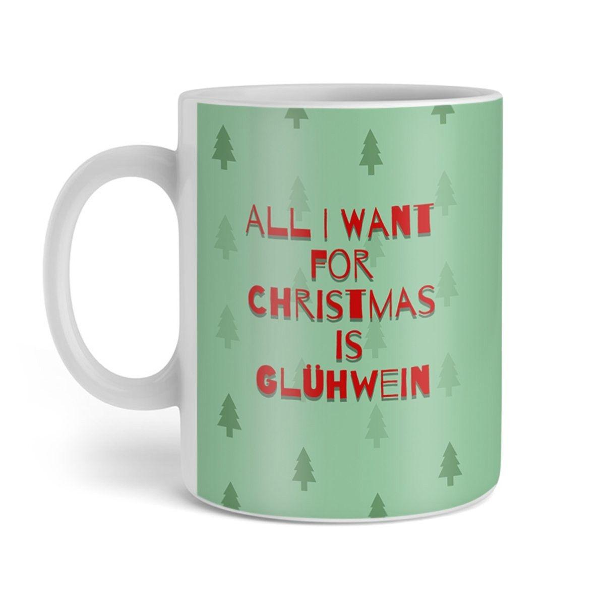 Weihnachtstasse - Oh Tannenbaum mit persönlichem Text