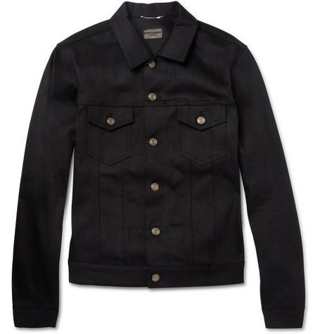 Saint Laurent Dry Denim Jacket | MR PORTER