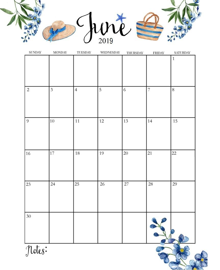 image about Printable June known as Lovable June 2019 Calendar calender Print calendar, Lovely