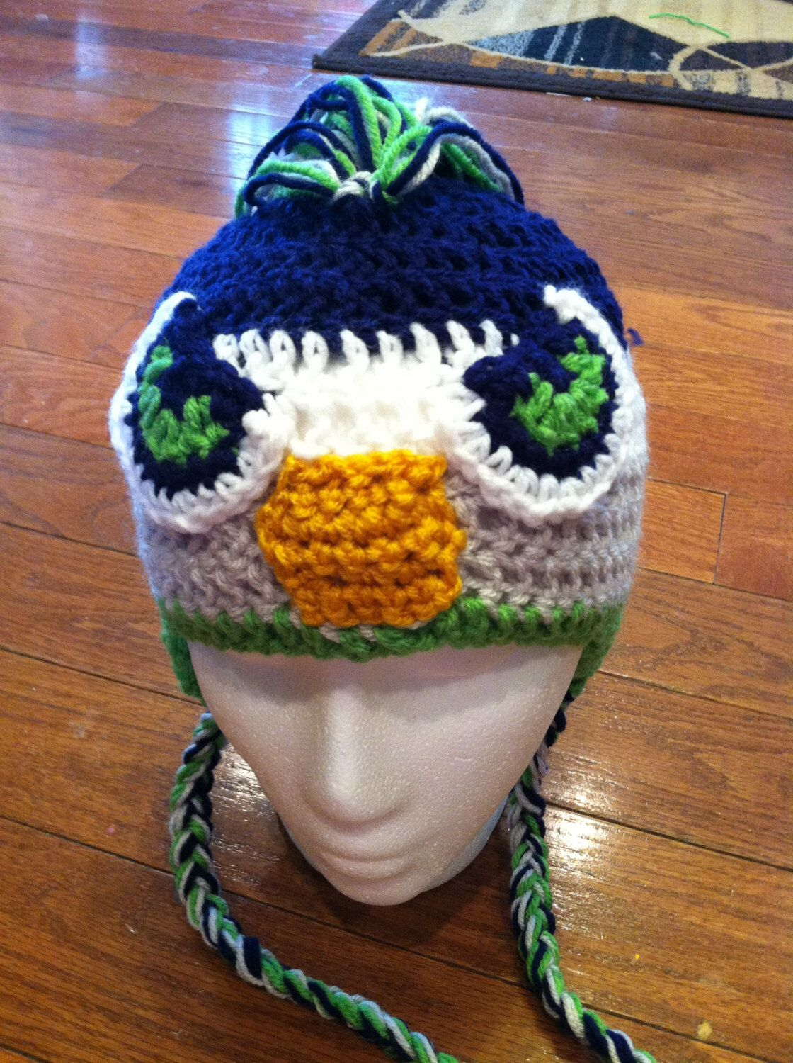 Seattle seahawks mohawk earflap beanie skullcap hatall sizes