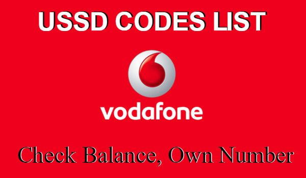 Vodafone Balance Check Sept 2017 Ussd Codes To Check Own Number Coding Vodafone Vodafone Logo