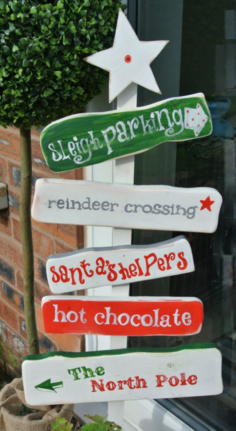 North pole christmas sign decoration my style for Outdoor christmas signs