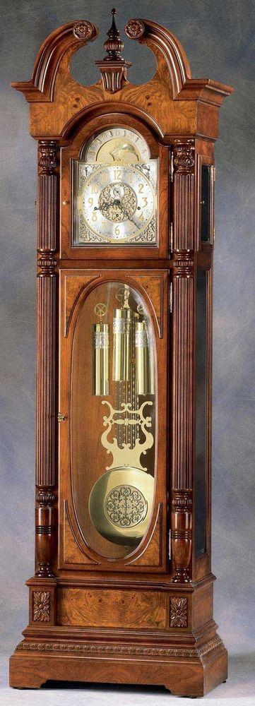 Howard Miller President Adams Grandfather Clock 610 874 Grandfather Clock Clock Clock Decor