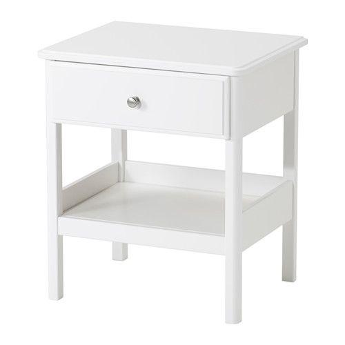 TYSSEDAL Nattbord IKEA Skuffen som er enkel å åpne og stenge har uttrekksstopp.