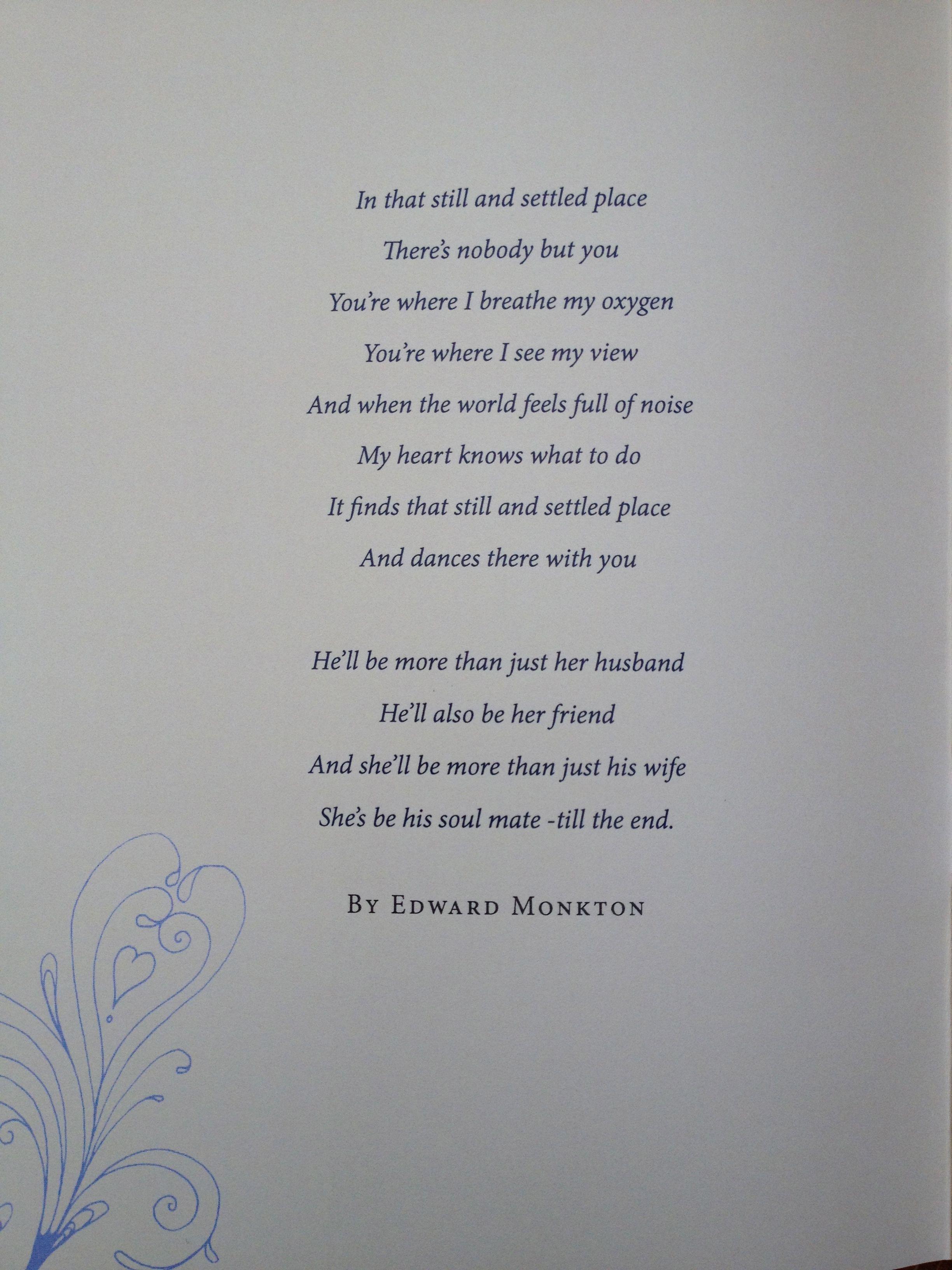 edward monkton wedding speech