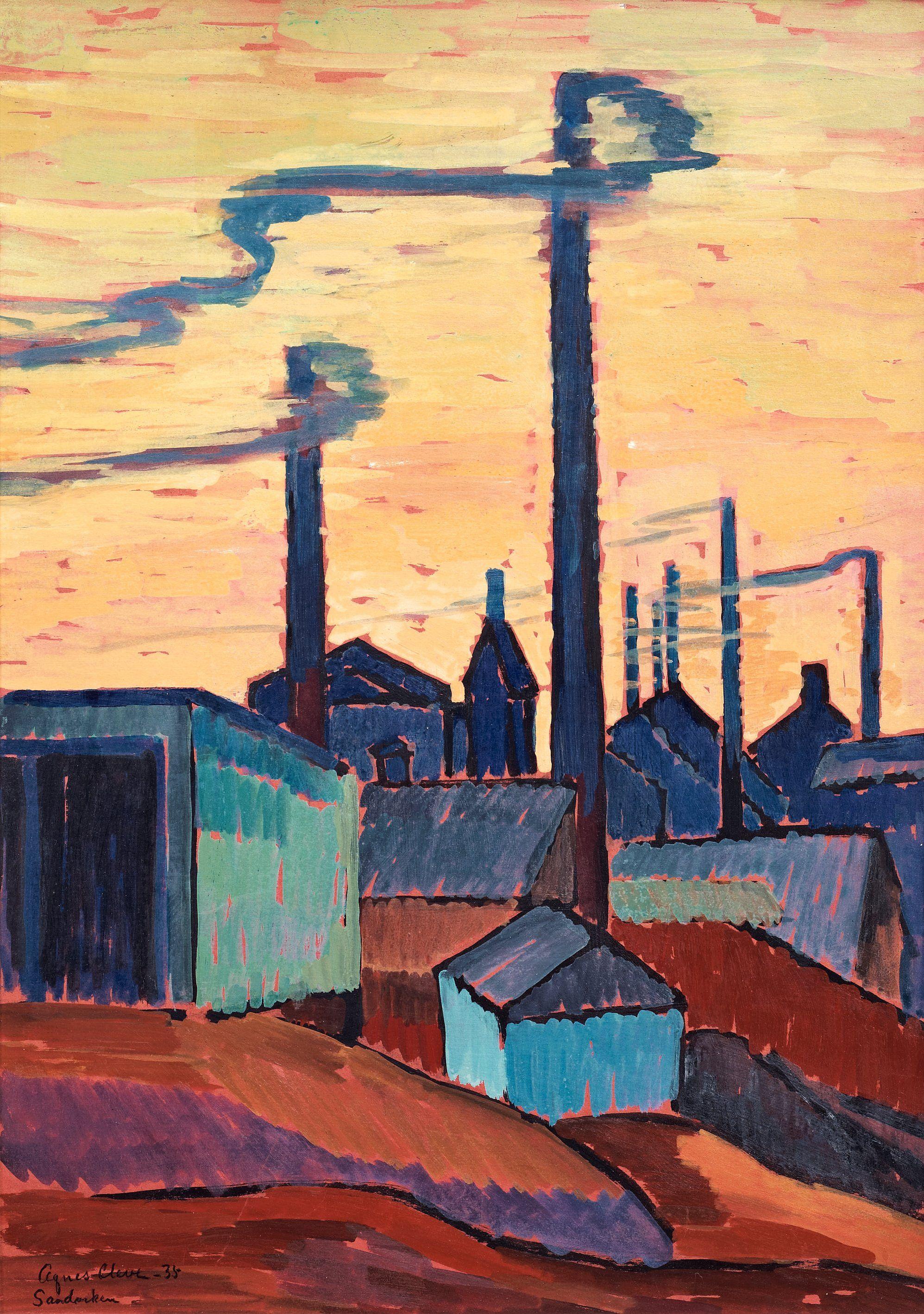 Agnes cleve evening light sandviken sweden industrial