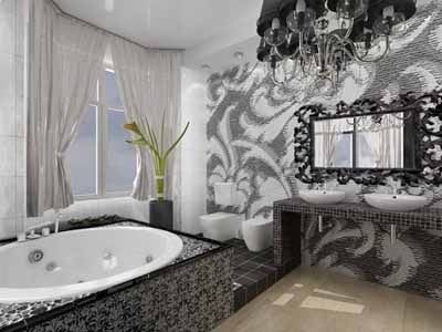 Baños en Color Blanco y Negro
