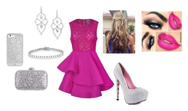 """""""pink and silver"""" by abbiemay85 on Polyvore"""