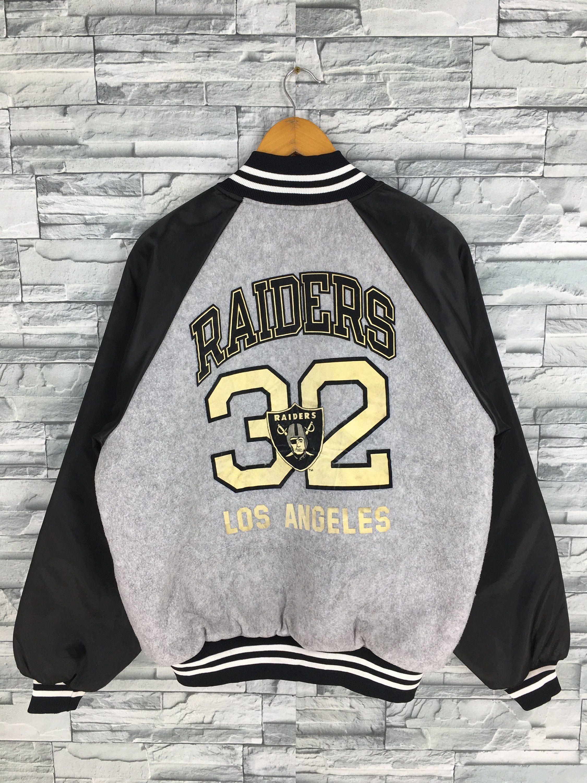 Clothing Jacket Raidersjacket Fortyniners Michiganfootball Vintageraidersjack Raidersrugbyjacket Varsity Jacket Vintage Jackets 90s Grey Bomber Jacket [ 3000 x 2250 Pixel ]