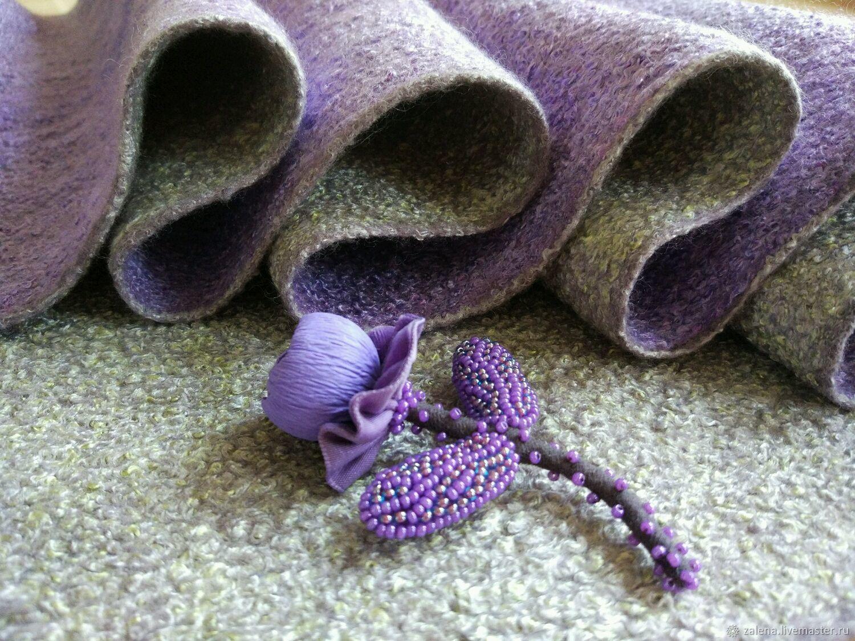 Купить Валяный снуд-трансформер Нежность - нежность, сиреневый, стильный аксессуар, жакет из войлока, трансформеры